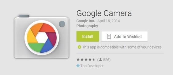 Google Camera теперь доступна в Google Play Store