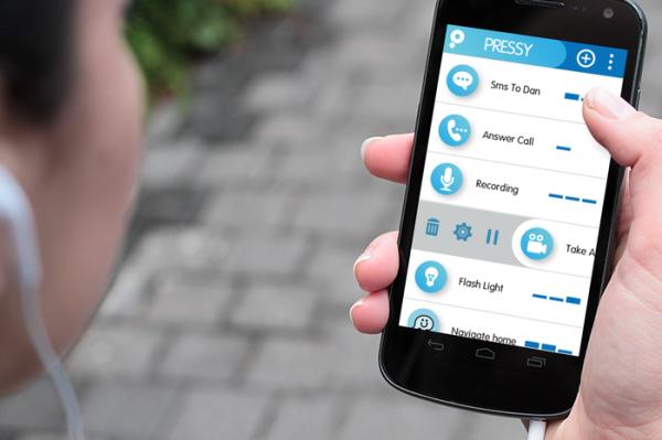 Pressy, дополнительная кнопка для мобильных устройств